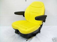 YELLOW SUSPENSION SEAT JD JOHN DEERE FRONT MOWER,TURF,ZERO TURN,GREENS MOWER #HD