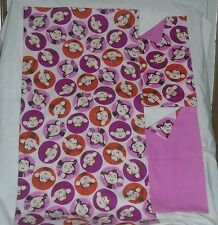 Homemade Girls Monkey Design Receiving Blanket/Burp Cloths