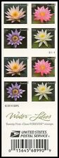 US 4967b Water Lilies imperf NDC booklet 20 MNH 2015