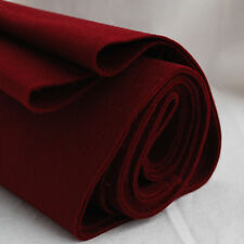 100% Wool Felt Fabric - 1mm Thick - Made in Europe - Wine Red - 1/2m x 1.6m