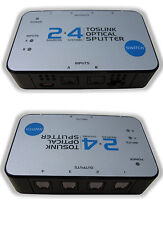 NEW 2x4 TOSlink Optical Audio Splitter Distribution Amplifier Amp Distributor HD
