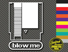 BLOW ME VIDEO GAME VINYL DECAL STICKER CONSOLE NES SNES CARTRIDGE SUPER VINTAGE
