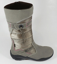 Ecco Girls Gore-Tex Grey Suede Combi Zip Boots UK 2.5 EU 35 US 3.5 RRP £69