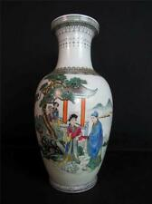 "ANTIQUE 1930s CHINESE PORCELAIN VASE, QIANLONG MARK, 24"" INCH , QING PERIOD"