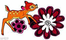 """6"""" DISNEY BAMBI THUMPER BUTTERFLY FLOWERS HEARTS FABRIC APPLIQUE IRON ON"""