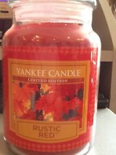 Yankee candle rustic red USA limited edition hard to find