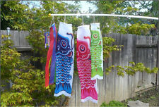 Koinobori Kite Children's Day Multi- Color Nylon Carp Streamers Windsocks
