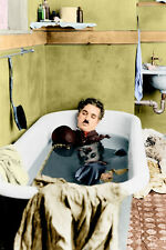 CHARLIE chaplin PAY DAY movie still poster BATHTUB HIGH QUALITY SHOT 24X36