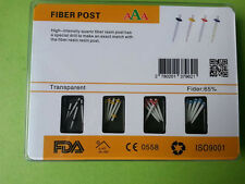 1 Box AAA Dental High-intensity Straight Pile Glass Fiber Resin Post & 4 Drills