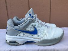 EUC Men's NIKE AIR Court Ballistec 4.1 White Blue 488144-101 US Sz 12 EU 46