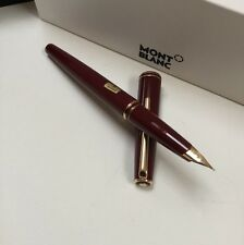 Montblanc Classic Burgundy Fountain Pen New Never Been Used 14K FINE Nib