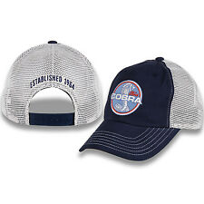 Shelby Cobra Blue and Khaki Mesh Hat Trucker Style, Unstructured