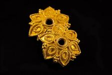 HANDMADE ANTIQUE STYLE SOLID 22K GOLD BEAD CAP THAILAND
