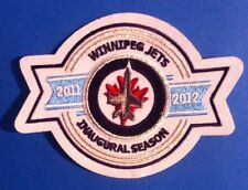 "Winnipeg Jets 2011-12 Inaugural Season Patch 4.5""x 3.5"" Inch .Sew  On / Iron On"