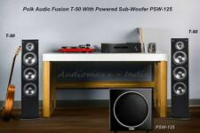 "Polk Audio FUSION T-50 Tower Speakers With PSW-125 Power SubWoofer 12""/300w"