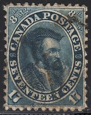 Canada 1859 17c Jacques Cartier, Scott 19, VF used (note), catalogue - $300