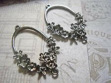 Chandelier Earring Components Earring Findings Pendants Black Gunmetal Floral