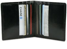 Bk Mens GENUINE LEATHER Bifold 6 Credit Cards Thin ID Holder Wallet Simple NR