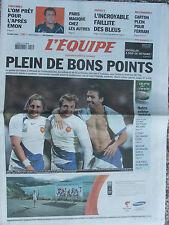 L'Equipe du 17/9/2007 - l'OM - Paris - Basket : les Bleus - Ferrari - Judo