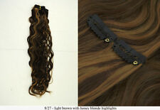 Recurlable Synthetic Hair CLIP ON IN Extensions 7 pc - Soft Body Wave 22""