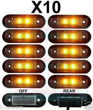 10x 12V/24V FLUSH FIT AMBER LED MARKER LAMPS/LIGHTS KELSA BAR TRUCK VAN LORRY