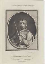 1786 A4 engraving of King William II (William Rufus) by John Goldar
