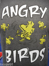 Mens Peanuts Brand Woodstock Angry Birds Shirt New L