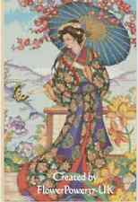 Counted Cross Stitch ORIENTAL LADY WITH FAN  - COMPLETE KIT - No.3-195 KIT