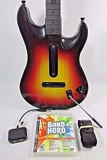 PS2 PS3 PS4 Rock Band Guitar Hero Controller RedOctane Sunburst WITH Dongle