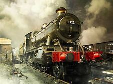 STEAM TRAIN VINTAGE COLOUR PHOTO ART PRINT POSTER PICTURE BMP1807A