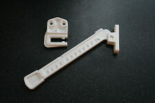 White Upvc Window Restrictor Ventilation Arm For Top Hung or Tilt & Turn Windows