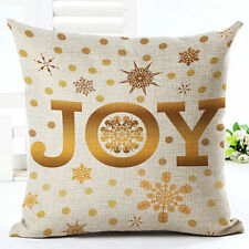 Christmas Style Cotton Linen Sofa Waist Cushion Cover Car Pillow Case Cover Gift