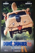 """JIM CARREY & JEFF DANIELS+1 Hand-Signed """"DUMB and DUMBER To"""" 11x17 Poster(PROOF)"""