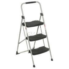 Werner 3 Step Steel Folding Step Ladder 225 Lb. Cap - 223-6
