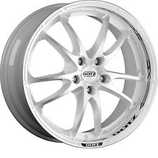 "4* Brand New 18""x8 Dotz Tupac Shaft White Polished Alloy Wheels for BMW"