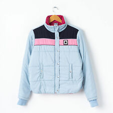 Vtg CONVERSE Puffa Jacket in Light Blue Size S Small Puffer Quilted