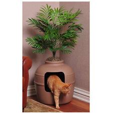 Cat Pet Hidden Clean Litter Box Clay Pot Plant Decorative House Odor Control