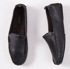 NIB $325 BERTOLO Cashmere-Lined Deerskin Leather Slippers 7.5-8.5 House Shoes