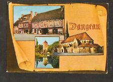 DANGEAU (28) COMMERCE avec POMPE à ESSENCE , EGLISE & TOUR en 1986