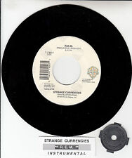 "R.E.M. (REM)  Strange Currencies  45 7"" record + juke box title strip NEW RARE!"
