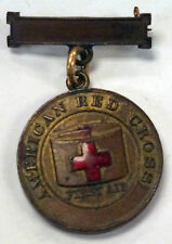 {BJSTAMPS}  VINTAGE EARLY 1900's RED CROSS Bronze Medal Initals on reverse