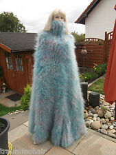 TRAUMMOHAIR POb HUGE Longhair Mohair Mantel Poncho Sweater Cape Coat Tneck
