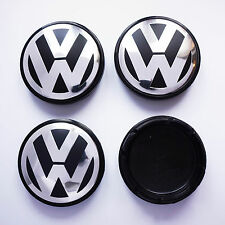 4x VW VOLKSWAGEN ALLOY WHEEL CENTRE HUB CAPS 55mm GOLF POLO GTI LUPO FOX PASSAT