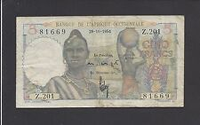 FRENCH WEST AFRICA  -  5  FRANCS   1954   @      @