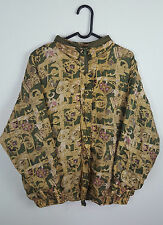 VTG RETRO WOMENS URBAN RENEWAL CRAZY BOLD NYLON SILK BOMBER JACKET VGC UK XL