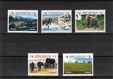 Newly Issued : NATIONAL PARK & WILDLIFE RESERVE OF NEPAL, Series of 5, MNH.