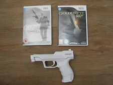 GOLDEN EYE 007 + QUANTUM OF SOLACE + ZAPPER  GUN=NINTENDO Wii=JAMES BOND=SPY=