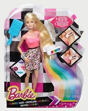 Barbie Rainbow Makeover Hair Doll Rain Colour Dye Hairdresser Christmas Gift