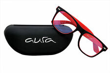 Sunglasses in Wayfarer style in Black And Red In Transparent style(Goggles)