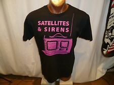SATELLITES & Sirens black no tag t-shirt, electronic Christian rock band from TN
